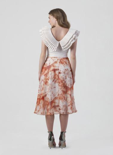 Coral  Fırfır Detaylı Bluz Bej